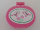 Part No: 6203pb10  Name: Scala Utensil Oval Case with Butterflies and Flowers Pattern (Sticker) - Set 5895