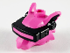 Part No: 65073pb01  Name: Minifigure, Head, Modified Alien Rat with Black VR Visor Pattern