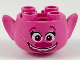 Part No: 65461pb05  Name: Minifigure, Head Modified Trolls Poppy with Open Smile, White Teeth Pattern