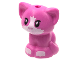 Part No: 69902pb02  Name: Cat, Friends, Baby Kitten, Sitting with Metallic Pink Nose, White Muzzle and Paws Pattern
