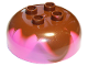 Part No: 98220pb08  Name: Duplo, Brick Round 4 x 4 Dome Top with 2 x 2 Studs and Marbled Reddish Brown Pattern