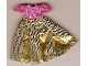 Part No: belvdress03  Name: Belville, Clothes Dress (Child) Long, Short Net Sleeves, Gold Skirt #7577
