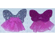 Part No: belvskirt27  Name: Belville, Clothes Fairy Skirt - Sheer with Wings (Glitter Silver on front, Glitter Pink on back) #7579