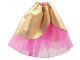 Part No: belvskirt28  Name: Belville, Clothes Skirt Long, Sheer with Golden Layer (no Jewel) #7578
