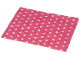 Part No: blankie03pb03  Name: Duplo Cloth Blanket 5 x 6 with White Polka Dots Pattern