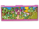 Part No: dupstr37  Name: Storybuilder Pink Palace Memory Card with Castle and Scenery Pattern