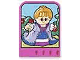 Part No: dupstr38  Name: Storybuilder Pink Palace Card with Lady in Blue Dress Pattern