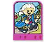 Part No: dupstr40  Name: Storybuilder Pink Palace Card with Man in Blue Cape Pattern