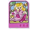 Part No: dupstr43  Name: Storybuilder Pink Palace Card with Girl in Pink Dress Pattern