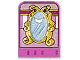 Part No: dupstr44  Name: Storybuilder Pink Palace Card with Mirror Pattern