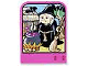 Part No: dupstr45  Name: Storybuilder Pink Palace Card with Witch in Black Dress Pattern