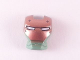 Part No: 10908pb08  Name: Minifigure, Visor Top Hinge with Copper Face Shield, White Eyes and 4 Rivets Pattern