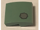 Part No: 15068pb153  Name: Slope, Curved 2 x 2 with Silver Splotch Pattern (BrickHeadz Boba Fett Helmet Battle Damage)