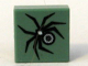 Part No: 3070bpb001  Name: Tile 1 x 1 with Groove with HP Black Spider Pattern