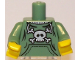 Part No: 973pb0662c01  Name: Torso Pockets and Skull and Crossbones Pattern / Sand Green Arms / Yellow Hands