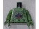 Part No: 973pb0806c01  Name: Torso Atlantis Barracuda with Open Mouth and Seaweed Pattern / Sand Green Arms / Sand Green Hands