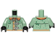 Part No: 973pb3858c01  Name: Torso Raincoat and Buckles Pattern / Sand Green Arms / Black Hands