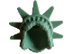 Part No: 98377  Name: Minifigure, Hair Female with Spiked Tiara (Lady Liberty)