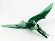 Part No: Ptera06  Name: Dinosaur, Pteranodon with Dark Green Back and Forehead