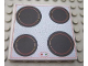 Part No: 6881pb03  Name: Scala Tile 6 x 6 with Cooktop with Red Border Pattern (Sticker) - Set 3149