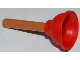 Part No: 11251c01  Name: Minifigure, Utensil Plunger (Soft Plastic) with Medium Nougat Handle