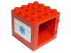 Part No: 11345pb01  Name: Duplo Door / Window Frame 4 x 4 x 3 Thick Top with Blue EMT Star of Life Pattern on Both Sides