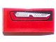 Part No: 11477pb027L  Name: Slope, Curved 2 x 1 No Studs with Chevrolet Camaro Car Taillight Pattern Model Left Side (Sticker) - Set 75874