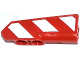 Part No: 11946pb006L  Name: Technic, Panel Fairing #21 Very Small Smooth, Side B with Red and White Danger Stripes Pattern Model Left Side (Sticker) - Set 42008