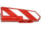 Part No: 11947pb006L  Name: Technic, Panel Fairing #22 Very Small Smooth, Side A with Red and White Danger Stripes Pattern Model Left Side (Sticker) - Set 42008