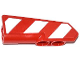 Part No: 11947pb006R  Name: Technic, Panel Fairing #22 Very Small Smooth, Side A with Red and White Danger Stripes Pattern Model Right Side (Sticker) - Set 42008