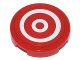 Part No: 14769pb174  Name: Tile, Round 2 x 2 with Bottom Stud Holder with Red and White Concentric Circles (Bullseye) Pattern (Sticker) - Set 10244