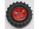 Part No: 15038c05  Name: Wheel 56mm D. x 34mm Technic Racing Medium, 6 Pin Holes with Black Tire 107 x 44R (15038 / 23798)