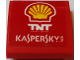 Part No: 15068pb113  Name: Slope, Curved 2 x 2 with Shell Logo, 'TNT Energy Drink' and 'KASPERSKY lab' Pattern (Sticker) - Set 75913