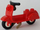 Part No: 15396c02  Name: Scooter with Dark Tan Stand and Black Handlebars