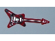 Part No: 17356pb01  Name: Minifigure, Utensil Guitar Electric 'ML' Type with Black Spiral on Body and Silver Strings, Bridge and Whammy Bar Pattern