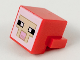 Part No: 19727pb002  Name: Plate, Modified 1 x 2 with Cube with Tan and Pink Pixelated Face Pattern (Minecraft Sheep)