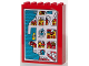 Part No: 2042pb02  Name: Fabuland Cupboard 2 x 6 x 7 with Fabuland Map Pattern (Sticker) - Set 3682