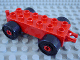 Part No: 2312c03  Name: Duplo Car Base 2 x 6 with Black Wheels and Open Hitch End