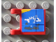 Part No: 2335pb007  Name: Flag 2 x 2 Square with Blue Map Pattern (Sticker) - Set 6559