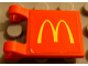 Part No: 2335pb009  Name: Flag 2 x 2 Square with McDonald's Pattern on Both Sides (Stickers) - Set 3438