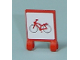 Part No: 2335pb032  Name: Flag 2 x 2 Square with Red Bicycle Pattern on both sides (Stickers) - Set 7641
