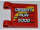 Part No: 2335pb084  Name: Flag 2 x 2 Square with 'DESERT RUN 5000' Pattern on Both Sides (Stickers) - Set 8126