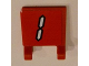 Part No: 2335pb102  Name: Flag 2 x 2 Square with White Number 1 with Black Outline on Red Background Pattern (Sticker) - Set 3569