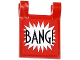 Part No: 2335pb110  Name: Flag 2 x 2 Square with 'BANG!' Large Font and White Starburst Explosion Horizontal Pattern on Both Sides (Stickers) - Set 76013