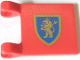 Part No: 2335px8  Name: Flag 2 x 2 Square with Lion Rampant Gold on Blue Shield Pattern