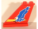 Part No: 2340pb022  Name: Tail 4 x 1 x 3 with Blue Eagle and Yellow Stripe Pattern on Both Sides (Stickers)