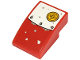 Part No: 24309pb016  Name: Slope, Curved 3 x 2 with White and Red Metal Plate and Yellow Button Pattern (Sticker) - Set 70432