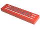 Part No: 2431pb007  Name: Tile 1 x 4 with Silver 'Ferrari' and White Stripes Pattern (Sticker) - Set 8671