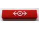 Part No: 2431pb128  Name: Tile 1 x 4 with Train Logo White Pattern (Sticker) - Set 10128