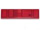 Part No: 2431pb609  Name: Tile 1 x 4 with Black Rectangles Pattern (BrickHeadz Sith Trooper Belt)